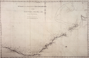 Chart of the sea coast New South Wales