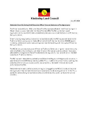 Statement from KLC