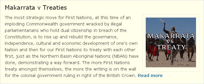 Makarrata v Treaties