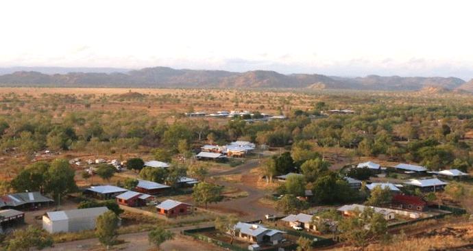 Arial View of Warmun (Turkey Creek)