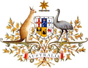 Kangaroo and Emu shield of the Commonwealth