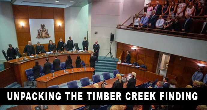 The High Court hearing on the Timber Creek native title compensation case