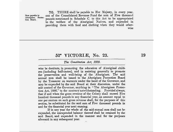 1889 Western Australia Constitution included section 70