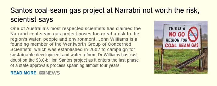 Santos coal-seam gas project at Narrabri not worth the risk, scientist says