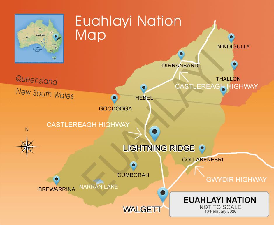 Euahlayi Map
