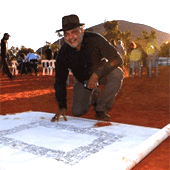 Noel Pearson with the Uluru Statement signed at the convention but the wording arrived later