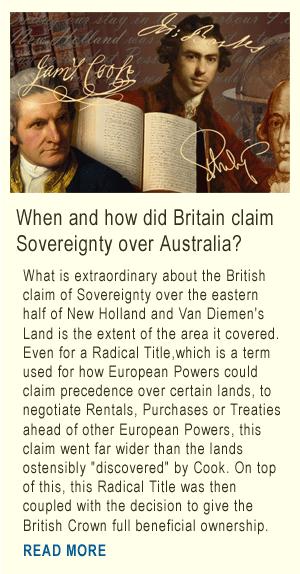 Britains clain to Australian Sovereignty