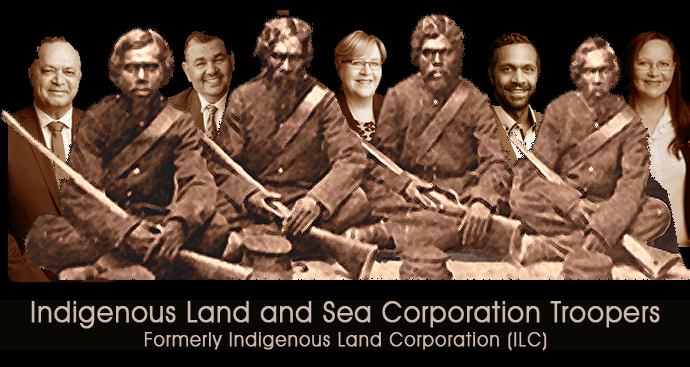 Indigenous Land and Sea Corporation Troopers from left: Edward Fry, Roy Ah-See, Patricia Crossin, Bruce Martin, Donna Odegaard