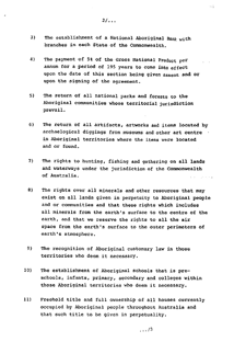 National Aboriginal Conference - Treaty Demands 1981 - Page 2