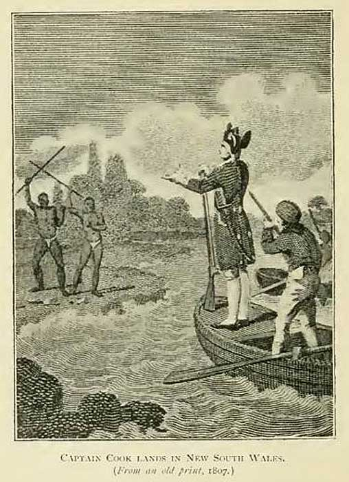 Frontier wars sovereign union first nations asserting sovereignty captain cook lands in new south wales 1807 print fandeluxe Choice Image