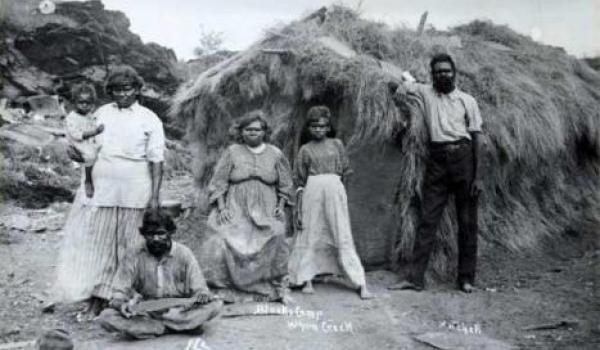 Aboriginal camp Whim's creek (1929?)
