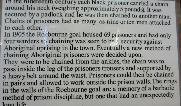 Roebourne Jail in the 19th century