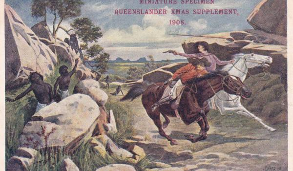 Caption: Ambushed 1908 - Queensland Xmas Suppliment