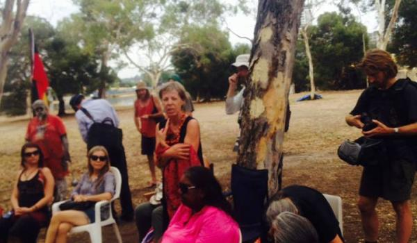 Image: Nyoongar Tent Embassy - before the Police arrived