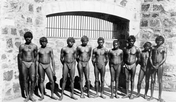 Roebourne Prison inmates - for crimes like 'absconding' from 'blackbirding' - slavery