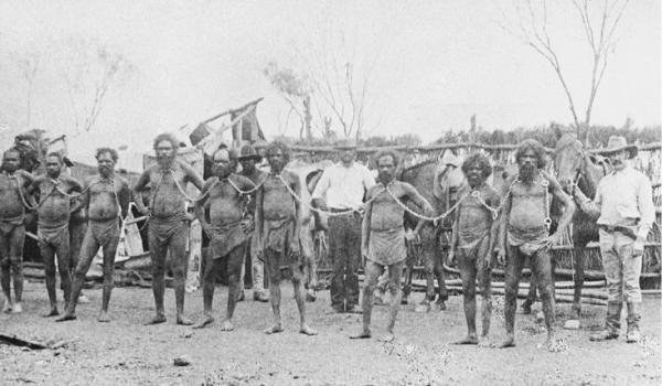 'Chain Gang Western Australia', photographer Alexander Morton, 1897; prepared by J. W. Beattie. Source: Tasmanian Museum and Art Gallery, Q1986.8.138.