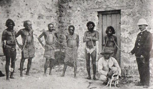 The only known information on this image is 'Captured for execution' Probably Kimberley or Pilbara WA