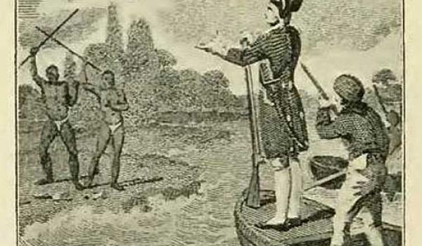 'Captain Cook lands in New South Wales' 1807 Print