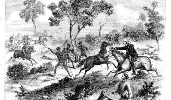 Fighting near Creen Creek, Queensland in September 1876