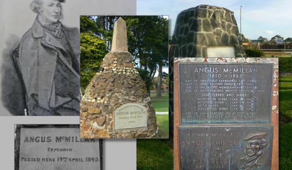 Angus McMillan, a Scottish Highlander was credited with founding Gippsland in Victoria by leading hunting parties to track down and massacre groups of First Nations people. He became a hero in Vic and NSW, and is still seen as a heroic explorer. Here is a sample of plaques, monuments and statues made in his honour.