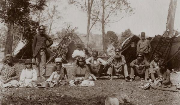 First Nations people on the Tweed River, New South Wales, Australia, circa 1880 Getty