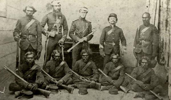 A Native Police Force (1842)  These forces were established in Port Phillip in 1842 in New South Wales and 1859 in Queensland. The force was built up of young Aboriginal men who were sent to kill Aboriginal people of different language groups. This was a vital contribution to the defeat of the Aboriginal resistance.  Some researchers now believe that the Native Policemen were recruited through blackmail.