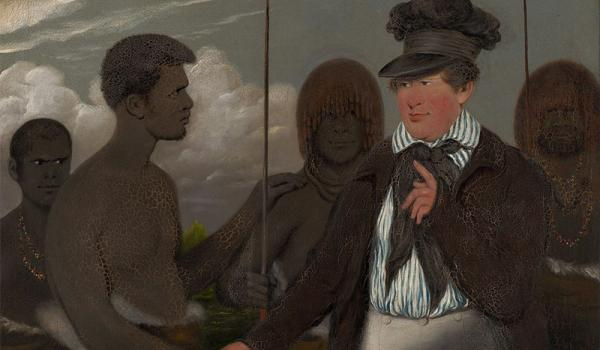 During the 1830s, the Christian missionary George Augustus Robinson negotiated a peace with some of the Tasmanian Aboriginals, following serious conflict between them and British settlers. The peace resulted in the exile of around 100 Aborigines to nearby Flinders Island to be taught European ways. Ravaged by disease, few ever returned to Tasmania alive. 'Benjamin Duterrau (1767 - 11 July 1851)'