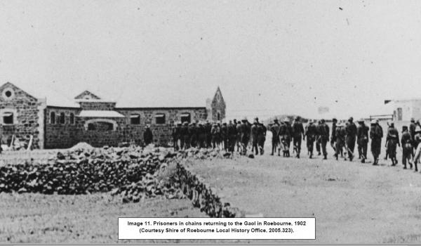 Prisoners of the North West were kept at Roebourne, usually on their way to Wadjemup (Rottnest Island Prison)