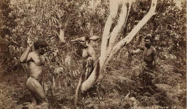 John Paine Aboriginal warriors NSW - paper photograph 13.5 x 20 cm - no other details known