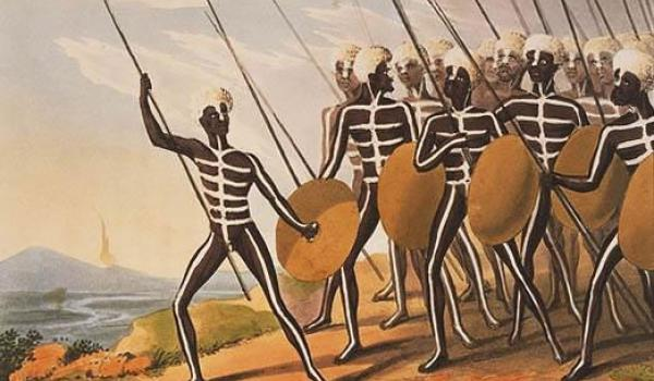 Warriors of New South Wales by Dubourg, M., fl. 1786-1808 - National Library of Australia