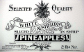 White Australian pineapples label.c.1900 Image courtesy of National Museum of Australia